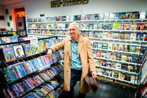 Don Flinn has owned Silver Screen Video for 25 years, and the store features over 10,000 DVD's for sale in addition to VHS tapes. (Michael Arellano/Emerald)